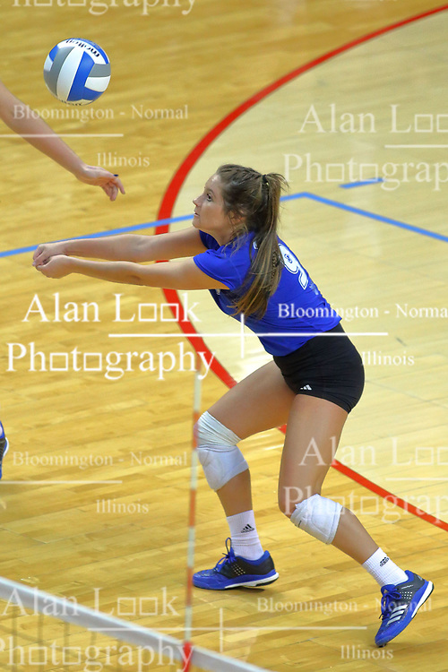 23 November 2017: Kylee Macke during a college women's volleyball match between the Drake Bulldogs and the Indiana State Sycamores in the Missouri Valley Conference Tournament at Redbird Arena in Normal IL (Photo by Alan Look)