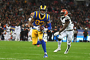 LA Rams Wide Receiver Josh Reynolds (83) scores a touchdown during the International Series match between Los Angeles Rams and Cincinnati Bengals at Wembley Stadium, London, England on 27 October 2019.