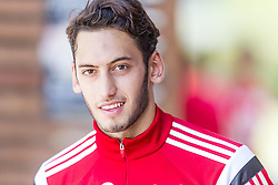 16.07.2014, Alois Latini Stadion, Zell am See, AUT, Bayer 04 Leverkusen Trainingslager, im Bild Hakan Calhanoglu (Bayer 04 Leverkusen) // Hakan Calhanoglu (Bayer 04 Leverkusen) during a Trainingssession of the German Bundesliga Club Bayer 04 Leverkusen at the Alois Latini Stadium, Zell am See, Austria on 2014/07/16. EXPA Pictures © 2014, PhotoCredit: EXPA/ JFK