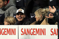 February 17, 2019 - Milan, Milan, Italy - MILAN, ITALY - FEBRUARY 17: Mauro Icardi #9 of FC Internazionale Milano and his wife Wanda Nara during the serie A match between FC Internazionale and UC Sampdoria at Stadio Giuseppe Meazza on February 17, 2019 in Milan, Italy. (Credit Image: © Giuseppe Cottini/NurPhoto via ZUMA Press)