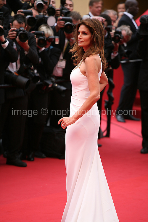 Cindy Crawford attending the gala screening of The Great Gatsby at the Cannes Film Festival on 15th May 2013, Cannes, France.