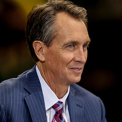Oct 26, 2014; New Orleans, LA, USA; NBC commentator Chris Collinsworth before a game between the New Orleans Saints and the Green Bay Packers at the Mercedes-Benz Superdome. Mandatory Credit: Derick E. Hingle-USA TODAY Sports