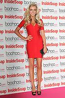 LONDON - SEPTEMBER 24: Alice Barlow attended the 'Inside Soap Awards' at One Marylebone, London, UK. September 24, 2012. (Photo by Richard Goldschmidt)