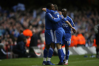 Photo: Rich Eaton.<br /> <br /> Chelsea v Arsenal. Carling Cup Final. 25/02/2007. Didier Drogba celebrates scoring the equalizer for Chelsea
