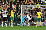 Sam Winnall of Derby County wheels away to celebrate scoring his sides 2nd goal during the Sky Bet Championship match at Carrow Road, Norwich<br /> Picture by Paul Chesterton/Focus Images Ltd +44 7904 640267<br /> 28/10/2017