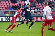 Onderwerp/Subject: FC Utrecht - Willem II - Eredivisie<br /> Reklame:  <br /> Club/Team/Country: <br /> Seizoen/Season: 2012/2013<br /> FOTO/PHOTO: Aurelien JOACHIM (C) of Willem II in duel with Jan WUYTENS (L) of FC Utrecht and Mike VAN DER HOORN (R) of FC Utrecht. (Photo by PICS UNITED)<br /> <br /> Trefwoorden/Keywords: <br /> #04 $94 ±1354626289759 ±1354626289759<br /> Photo- & Copyrights © PICS UNITED <br /> P.O. Box 7164 - 5605 BE  EINDHOVEN (THE NETHERLANDS) <br /> Phone +31 (0)40 296 28 00 <br /> Fax +31 (0) 40 248 47 43 <br /> http://www.pics-united.com <br /> e-mail : sales@pics-united.com (If you would like to raise any issues regarding any aspects of products / service of PICS UNITED) or <br /> e-mail : sales@pics-united.com   <br /> <br /> ATTENTIE: <br /> Publicatie ook bij aanbieding door derden is slechts toegestaan na verkregen toestemming van Pics United. <br /> VOLLEDIGE NAAMSVERMELDING IS VERPLICHT! (© PICS UNITED/Naam Fotograaf, zie veld 4 van de bestandsinfo 'credits') <br /> ATTENTION:  <br /> © Pics United. Reproduction/publication of this photo by any parties is only permitted after authorisation is sought and obtained from  PICS UNITED- THE NETHERLANDS
