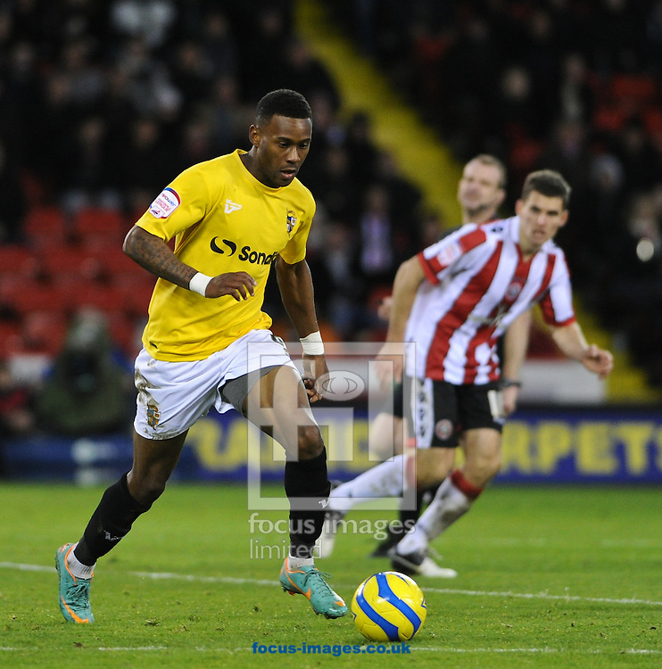 Picture by Richard Land/Focus Images Ltd +44 7713 507003.01/12/2012.Jennison Myrie-Williams of Port Vale during the The FA Cup match at Bramall Lane, Sheffield.
