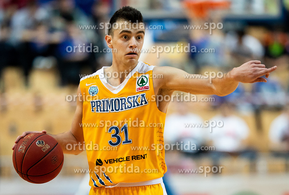 Zan Mark Sisko of Sixt Primorska during basketball match between KK Sixt Primorska and KK Petrol Olimpija in semifinal of Spar Cup 2018/19, on February 16, 2019 in Arena Bonifika, Koper / Capodistria, Slovenia. Photo by Vid Ponikvar / Sportida