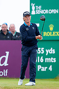 Bernhard Langer during the final round of the Rolex Senior Golf Open at St Andrews, West Sands, Scotland on 29 July 2018. Picture by Malcolm Mackenzie.
