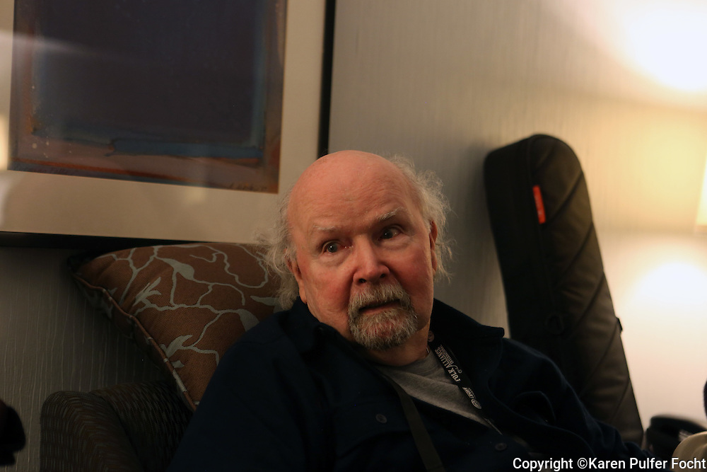 Standing room only as TOM PAXTON  took part in a song circle at the Folk Alliance Conference in Kansas City, Missouri on Thursday Night Feb 17, 2017.