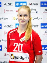 12.10.2014, BSZF Suedstadt, Maria Enzersdorf, AUT, OeHB, Fototermin Österreichisches Handball Nationalteam Frauen Jahrgang 1998, im Bild Jovana Ivkovic // during a Team and Portrait Photoshoot of Austrian Women's National Handball Team 1998 at the BSZF Suedstadt, Maria Enzersdorf, Austria on 2014/10/12. EXPA Pictures © 2014, PhotoCredit: EXPA/ Sebastian Pucher