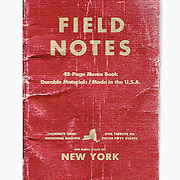 Field Notes pads I've kept in my pocket over the years.