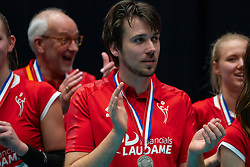 Trainer-coach Ivo Munter of VCN after the cup final between Sliedrecht Sport and Laudame Financials VCN on February 16, 2020 in De Maaspoort in Den Bosch.