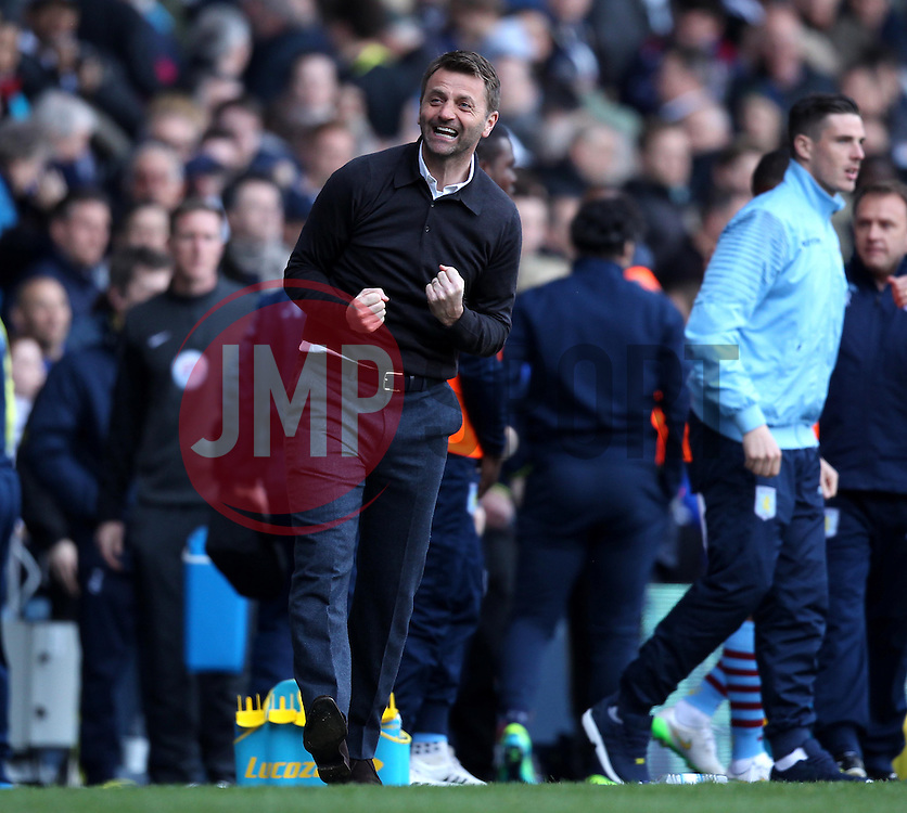 Aston Villa Manager, Tim Sherwood celebrates - Photo mandatory by-line: Robbie Stephenson/JMP - Mobile: 07966 386802 - 11/04/2015 - SPORT - Football - London - White Hart Lane - Tottenham Hotspur v Aston Villa - Barclays Premier League