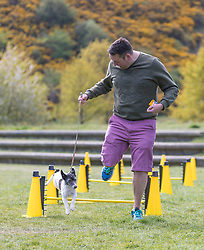 MSPs display their dogs and put them through an agility course with the winner decided by a public vote on the day.<br /> <br /> Pictured: Miles Briggs with his dog Monty