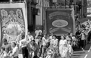 Kiveton Park and Thurcroft Branch banners. 1992 Yorkshire Miners Gala, Barnsley.