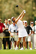 March 27, 2005; Rancho Mirage, CA, USA;  Grace Park tees off at the 12th hole during the final round of the LPGA Kraft Nabisco golf tournament held at Mission Hills Country Club.  Park finished the day with a 5 under par 67 and finished tied for 5th with an overall score of 4 under par 284.<br />Mandatory Credit: Photo by Darrell Miho <br />&copy; Copyright Darrell Miho