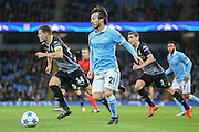 Manchester City midfielder David Silva  during the Champions League match between Manchester City and Borussia Monchengladbach at the Etihad Stadium, Manchester, England on 8 December 2015. Photo by Simon Davies.