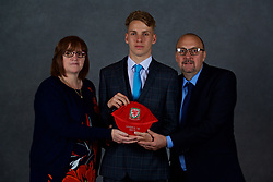 NEWPORT, WALES - Saturday, May 19, 2018: Luc Noble and family during the Football Association of Wales Under-16's Caps Presentation at the Celtic Manor Resort. (Pic by David Rawcliffe/Propaganda)