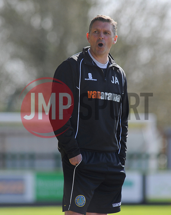 Macclesfield Town Manager, John Askey. - Photo mandatory by-line: Nizaam Jones - Mobile: 07966 386802 - 11/04/2015 - SPORT - Football - Nailsworth - The New Lawn - Forest Green Rovers v Macclesfield Town - Vanarama Football Conference