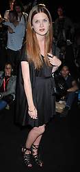 Actress BONNIE WRIGHT at the Issa fashion show part of the London fashion Week 2009 held at Somerset House, The Strand, London on 20th September 2009.