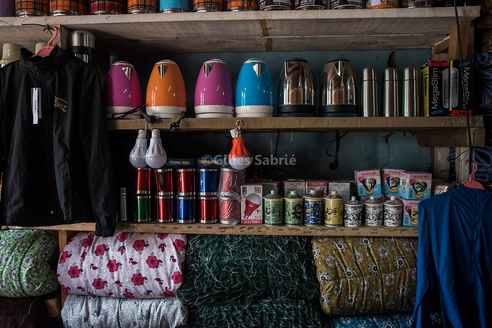 For a story by Steven Lee Myers, Bhutan<br /> Haa, Bhutan, August 3rd, 2017<br /> At a shop in Haa, Chinese goods smuggled over the nearby border between Bhutan and China. China has shut down traffic between the two countries since the border dispute escalated last month, leading to showdown between India and China. <br /> Gilles Sabri&eacute; pour The New York Times