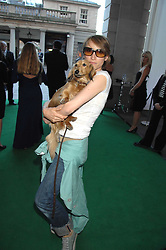 AMANDA THOMPSON and her dog Lillie at the Tanqueray No.TEN cocktail party held at No1 Piazza, Covent Garden, London on 10th June 2008.<br /><br />NON EXCLUSIVE - WORLD RIGHTS