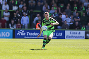 Forest Green Rovers Mark Ellis(5) passes the ball forward during the Vanarama National League Play Off second leg match between Forest Green Rovers and Dagenham and Redbridge at the New Lawn, Forest Green, United Kingdom on 7 May 2017. Photo by Shane Healey.