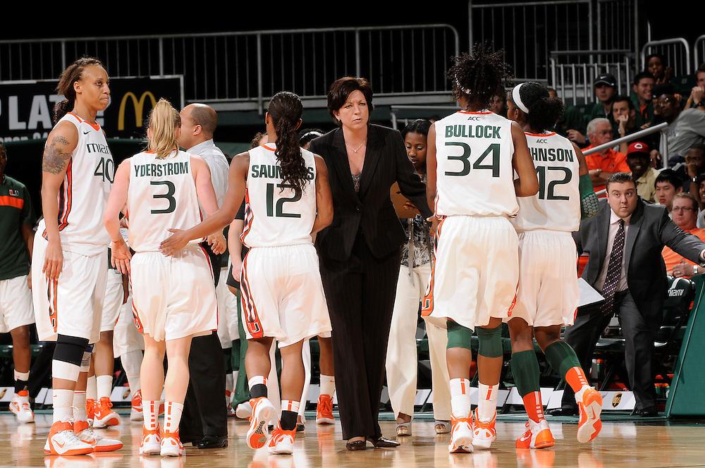 2012 Miami Hurricanes Women's Basketball vs Virginia Tech