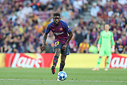 Samuel Umtiti of FC Barcelona during the UEFA Champions League, Group B football match between FC Barcelona and PSV Eindhoven on September 18, 2018 at Camp Nou stadium in Barcelona, Spain - Photo Manuel Blondeau / AOP Press / ProSportsImages / DPPI