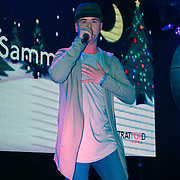 Sammy Clay preforms at X-Factor's Sam Lavery to Switch on Christmas Lights at Stratford Centre inside Stratford Shopping Centre, 26th November 2016, London,UK. Photo by See Li