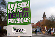 St James University Hospital Unison members on the TUC Day of Action 30th November, Leeds.