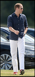 Prince William Playing in the Audi Polo Challenge Charity Polo match at Coworth Polo Club, Ascot, United Kingdom,<br /> Saturday, 3rd August 2013<br /> Picture by Andrew Parsons / i-Images