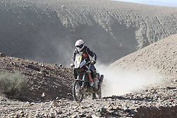 Slovenian Enduro Biker Miran Stanovnik competes during 34th rally Dakar - 2012 edition from Mar del Plata across Argentina, Chile and Peru towards Lima, on January 9, 2012. (Photo by MaindruPhoto)