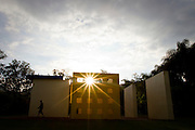 Brumadinho_MG, Brasil...Centro de Arte Contemporanea Inhotim (CACI). Na foto a obra de Helio Oiticica, Invencao da cor, Penetravel Magic Square # 5, De Luxe, 1997...The Inhotim Contemporary Art Center (CACI). In this photo the art of Helio Oiticica, Invencao da cor, Penetravel Magic Square # 5, De Luxe, 1997...Foto: NIDIN SANCHES / NITRO