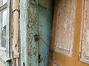 Detail Haustür, verfallenes Haus, Ruine, Altstadt, Treffurt, Werra, Thüringen, Deutschland | detail of door, derelict house , ruin, old town of Treffurt, Thuringia, Germany