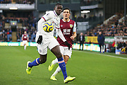 Chelsea defender Kurt Zouma (15) chased by Burnley midfielder Jack Cork (4) during the Premier League match between Burnley and Chelsea at Turf Moor, Burnley, England on 26 October 2019.