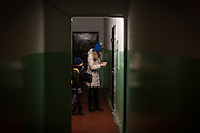 Yaroslav, 10, is going out with his mother Olga, 36, to use his UNICEF video-camera, near the provisional home where they live as internally displaced persons. (IDPs) Yeroslav is taking part to the UNICEF-sponsored One Minute Junior project for internally displaced persons (IDPs), carried out by the local NGO 'Ukrainian Frontiers' in the city of Kharkiv, the country's second-largest, in the east. The conflict between Ukrainian army and Russia-backed separatists nearby, in the Donbass region, have left more than 10000 dead since April 2014, including over 1000 since the shaky Minsk II ceasefire came into effect in February 2015. The approximate number of people displaced by the conflict is 1.4 million as of August 2015. Yeroslav's mother, Olga, is also a participant to a different project of 'Ukrainian Frontiers', called 'Self-Employment', first as a beneficiary, and now as a paid hotline coordinator for people seeking jobs and formation courses.