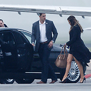 NLD/Amserdam/20131116 - Khloe Kardashian arriving with a private jet on Schphol Airport Amsterdam, with her bodyguard
