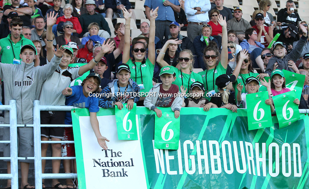 "National Bank staff and kids in the ""Neighbourhood"" during the 4th ODI, Black Caps v Pakistan, One Day International Cricket. McLean Park, Napier, New Zealand. Tuesday 1 February 2011. Photo: Andrew Cornaga/photosport.co.nz"