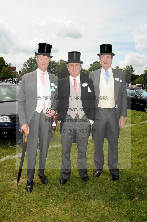 Left to right, the DUKE OF MARLBOROUGH, VISCOUNT ASTOR and LORD CHARLES SPENCER-CHURCHILL at the 1st day of the 2008 Royal Ascot racing festival on 17th June 2008.<br />