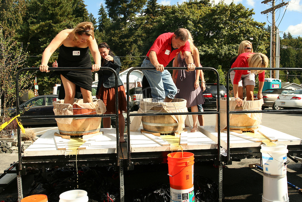 Grape Stomp 2009 at Brian Carter Cellars, Woodinville, WA