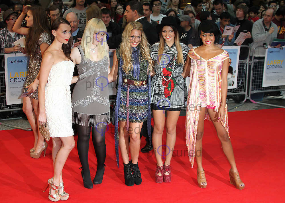 Parade - Girl Group - Jessica Agombar; Sian Charlesworth; Lauren Deegan; Emily Biggs; Bianca Claxton Larry Crowne World Premiere, Westfield Shopping Centre, West London, UK, 06 June 2011:  Contact: Rich@Piqtured.com +44(0)7941 079620 (Picture by Richard Goldschmidt)