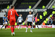 Derby County striker Chris Martin during the EFL Sky Bet Championship match between Derby County and Blackburn Rovers at the Pride Park, Derby, England on 8 March 2020.