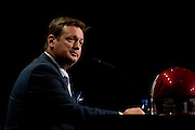 DALLAS, TX - JULY 22:  Oklahoma head coach Bob Stoops speaks during the Big 12 Media Day on July 22, 2014 at the Omni Hotel in Dallas, Texas.  (Photo by Cooper Neill/Getty Images) *** Local Caption *** Bob Stoops