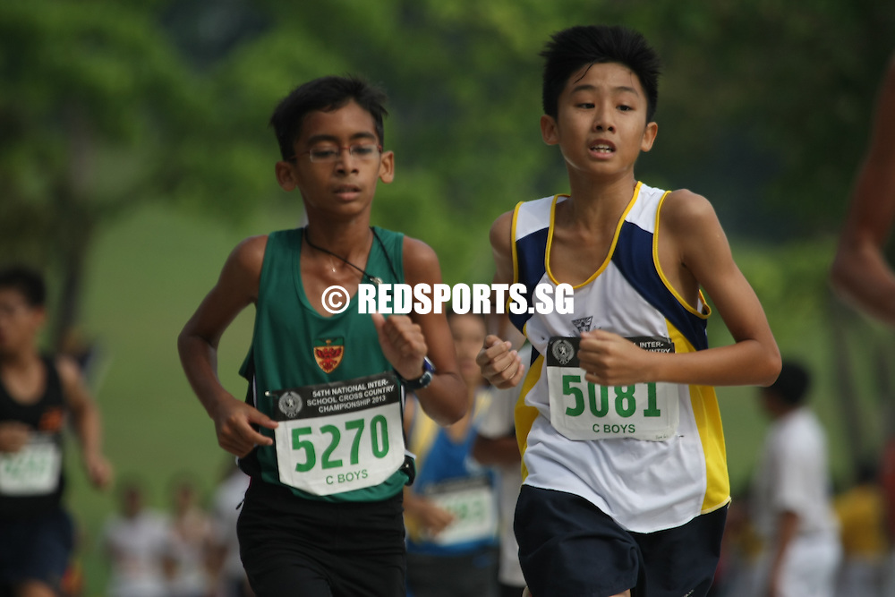 Bedok Reservoir, Wednesday, March 27, 2013 &mdash; Louis Shia of North Vista Secondary just managed to edge out Isaac Tan of Anglo-Chinese School (Independent) by 1.47 seconds to win the C Division gold at the 54th National Schools Cross Country Championships.<br /> <br /> Story: http://www.redsports.sg/2013/03/29/c-div-cross-country-louis-shia-north-vista/
