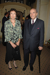 PRINCESS MARIA PIA OF SAVOY and her husband PRINCE MICHAEL OF BOURBON-PARMA at a reception to celebrate the launch of Prince Dimitri of Yugoslavia's one-of-a-kind jeweleery collection held at Partridge Fine Art, 144-146 New Bond Street, London on 11th June 2008.<br />