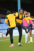 Southend United striker Nile Ranger (50) warming up during the EFL Sky Bet League 1 match between Southend United and Bradford City at Roots Hall, Southend, England on 19 November 2016. Photo by Matthew Redman.
