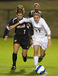 Virginia Cavaliers M/F Sinead Farrelly (17)..The #3 ranked Virginia Cavaliers Women's Soccer team faced the Maryland Terrapins at Klockner Stadium in Charlottesville, VA on October 25, 2007.