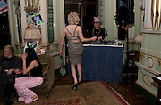 LADY LLOYD; BOY GEORGE ,  Philip Sallon's mass paranoia swine flu birthday party. DRESS: DISEASE RELATED OR SWINE, Home House. Portman Sq. London. 13 November 2009.